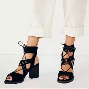 Free People lace up Lennon heels
